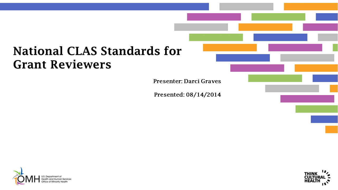 National CLAS Standards for Grant Reviewers