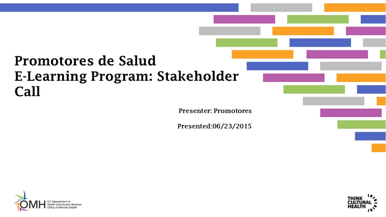 Promotores de Salud E-Learning Program: Stakeholder Call
