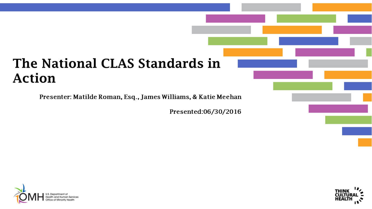 The National CLAS Standards in Action